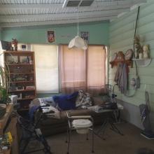 Rear enclosed porch