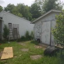 Garage and side of home
