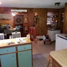Kitchen view to dining area