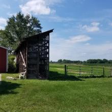 Corn Crib and Pastures